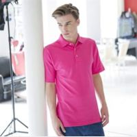 Classic cotton piqué polo with stand-up collar Thumbnail