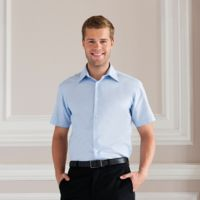 Short sleeve easycare tailored Oxford shirt Thumbnail