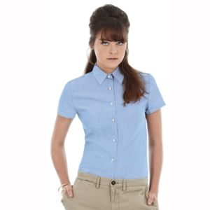 B&C Oxford short sleeve /women Thumbnail