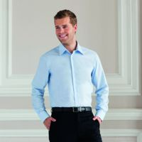 Long sleeve easycare tailored Oxford shirt Thumbnail